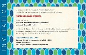 Invitation au lancement de la collection Parcours Numériques